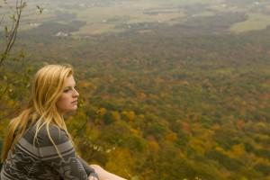 Friend Colleen taking in the beautiful view.